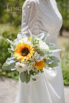 The next series of sunflowers is coming soon, please stay tuned. Sunflower Bridesmaid Bouquet, Sunflower Bouquets, Sunflower Flower, Wildflower Bridal Bouquets, Daisy Bridal Bouquet, Sunflower Floral Arrangements, Fall Sunflower Weddings, Sunflower Wedding Centerpieces, Wedding Bouquets With Sunflowers