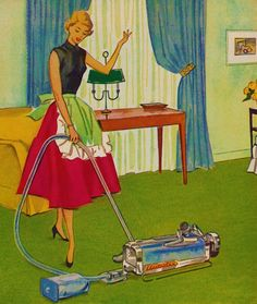 Homemaking is just plain more exciting with Electroluxe appliances!! ~ ca. 1952.
