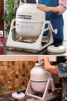 Don't leave the house without it!!! WonderWash, a Small Washing Machine That is Completely Portable. $53.00 I NEED this