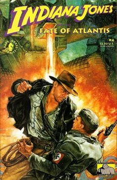 COMIC_indiana_jones_fate_of_atlantis_3 #comic #cover #art