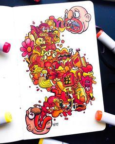 Cute Doodle Art, Doodle Art Designs, Doodle Art Drawing, Cute Doodles, Doodle Sketch, Graffiti Doodles, Graffiti Art, Doddle Art, Epic Drawings