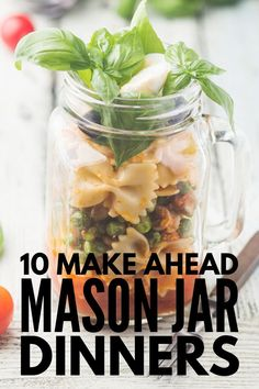 Meal prep just got easier with this collection of 50 simple, delicious and healthy mason jar meals! Perfect for on-the-go, these recipes won't disappoint! Mason Jar Breakfast, Mason Jar Lunch, Mason Jar Meals, Meals In A Jar, Mason Jars, Mason Jar Recipes, Pots, Zoodle Recipes, Salad In A Jar