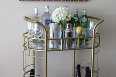 "Visit our site for additional relevant information on ""bar cart decor"". It is a superb area to learn more. Ikea Hack Gold, Bart Carts, Outdoor Bar Cart, Portable Kitchen Island, Gold Bar Cart, Bar Cart Decor, Apartment Chic, Best Outdoor Furniture, Small Bars"
