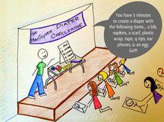 The MacGyver Diaper Challenge Cartoon