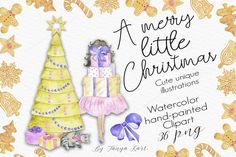 A Merry Little Christmas Collection by Tanya Kart on @creativemarket