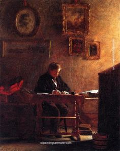 Eastman Johnson Self Portrait, painting Authorized official website