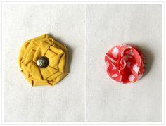 DIY: Fabric Flower Brooches