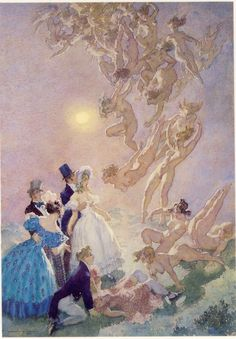 Norman Lindsay:   Visitants from the Moon.