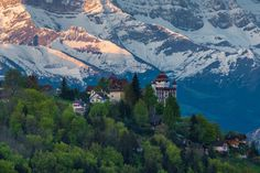 Castle of Caux in Swiss Alps by Florin Biscu