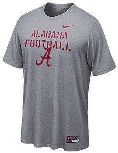 Nike Alabama Crimson Tide Men's Grey Bench Press Dri FIT Shirt