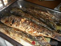 Great recipe for Grilled fish. A fast dish that is tasty and full of flavor for those who love fish! Recipe by evdoba Greek Recipes, Desert Recipes, Fish Recipes, Seafood Recipes, Cooking Recipes, Good Food, Yummy Food, Greek Cooking, Fish Dinner