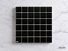 MSCB4804CW GLAZED PORCELAIN MOSAIC - GLOSS BLACK Mosaic Tiles, Wall Tiles, Mosaics, Porcelain Black, Glaze, Tile Floor, Mosaic Pieces, Room Tiles, Enamel