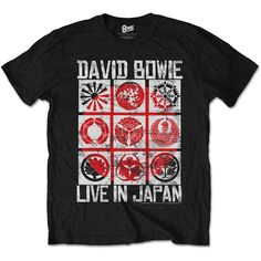 David Bowie Men's Tee: Live in Japan Wholesale Ref:BOWTS14MB