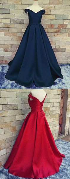 prom dresses,prom dress,Charming A Line Satin prom dress,Off-the-Shoulder Prom Dress With Belt