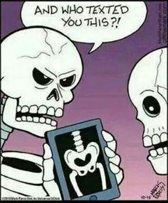 Bahaha, silly skeletons!