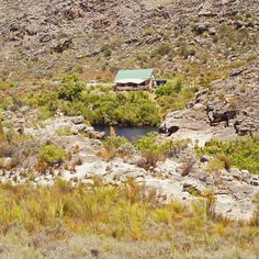 The perfect mountain cottage in western cape. Enjoy fly-fishing, kloofing, canyons, waterfalls and pools. Family accommodation in Cape. Mountain Cottage, Farm Stay, Africa Travel, Cape Town, Fly Fishing, South Africa, 4x4, Waterfall, House Styles