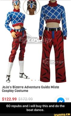 """""""ª Ti. JoJo's Bizarre Adventure Guido Mista Cosplay Costume $122.99 60 repubs and i will buy this and do the boat dance. - 60 repubs and i will buy this and do the boat dance. – popular memes on the site iFunny.co #dance #artcreative #jojo #anime #dancing #cosplay #ti #jojos #bizarre #adventure #guido #mista #costume #repubs #will #buy #do #boat #dance #meme Funny Dance Memes, Funny Car Memes, Dance Humor, Car Humor, Jojo Bizzare Adventure, Adventure Time, Jojo Anime, Jojo Bizarre, Popular Memes"""