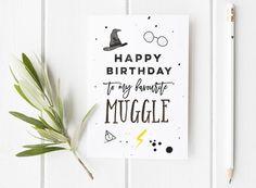 Harry Potter Inspired Birthday Card / Harry Potter / Wizard Birthday Card / Harry Potter Fan / Muggle / Muggle Birthday Card
