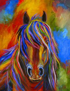 Horse Painting - Mystery Horse by Mary Jo Zorad
