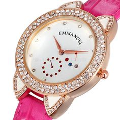 Find More Women's Wristwatches Information about Fashion 2015 Women Dress Watch Quartz Casual Rhinestones Watches Leather Rose Gold Plated Case Ladies Wristwatch Hot Sale,High Quality wristwatch black,China wristwatch camera Suppliers, Cheap wristwatch men from Smart Feeling boutiques on Aliexpress.com