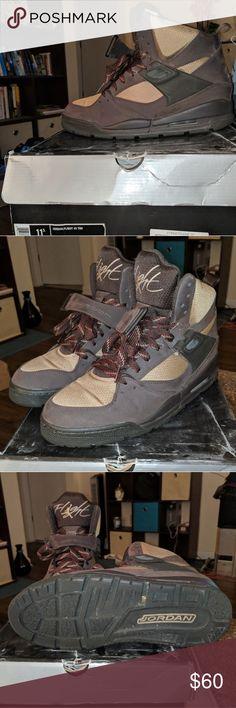 wholesale dealer a068f 22856 Air Jordan Flight 45 TRK Sneakerboot Sz 11.5 Brown  Tan 9 10 worn casually