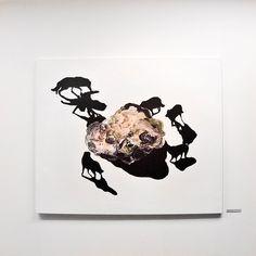 """Natalia Bażowska """"Znalezisko"""", 2015; Wystawa """"Co ukryte. Aktualna Sztuka ze Śląska"""" w Państwowej Galerii Sztuki w Sopocie (16.10.-15.11.2015) #pgssopot #artgallery #exhibition #slask #sopot #painting"""