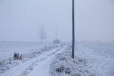 Talvinen tie. // A winter road.