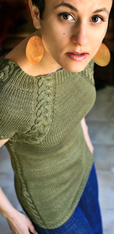 Knit Sweater Pattern - Silken Scabbard