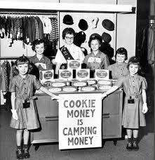 Girl scouts... when our baby boomers were raising money!