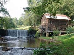 Adair Mill in Cleveland, GA. Water Powers, Country Scenes, Georgia On My Mind, Covered Bridges, Cool Landscapes, Cleveland, Places To See, Beautiful Places, To Go