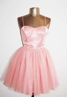 Betsey Johnson Soft Pink Princess/Tea Party Dress with Tulle.
