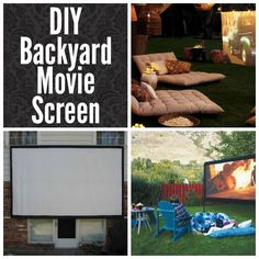 DIY Ideas to Get Your Backyard Ready for Summer - DIY Backyard Movie Screen- Cool Ideas for the Yard This Summer. Furniture, Games and Fun Outdoor Decor both Adults and Kids Will Enjoy screen 41 Cool DIYs to Get Your Backyard Ready for Summer Backyard Movie Screen, Backyard Movie Theaters, Outdoor Movie Screen, Backyard Movie Nights, Outdoor Movie Nights, Outdoor Theatre, Backyard Games, Backyard Projects, Diy Projects