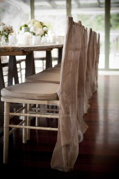 Sydney Wedding from Lovers Lane Photography Wedding Seating, Rustic Wedding, Tiffany Chair, Neutral Wedding Colors, Vintage Stool, Lovers Lane, Sydney Wedding, Chair Covers, Event Design