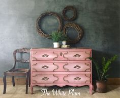 French Provincial painted a mix of Annie Sloan pinks. https://instagram.com/p/BZqwjyhAxWZ/