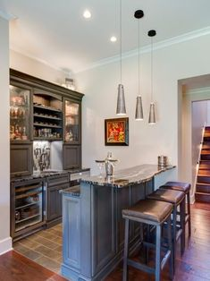Add A Bar To Your Finished Basement With These Design Ideas.