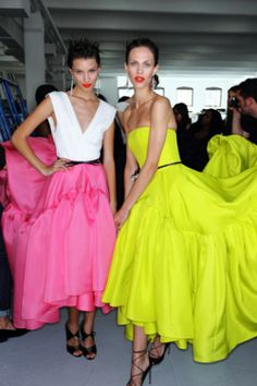fuckyeahvintagediary:    Backstage: Jason Wu S/S 2012    neon fashion trends here <3
