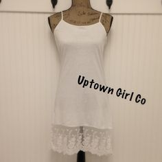 New / Dress Slip Extender New dress slip extender. Pretty lace at the bottom. Can be worn a s nightly. 100% cotton Uptown Girl Co Intimates & Sleepwear Chemises & Slips