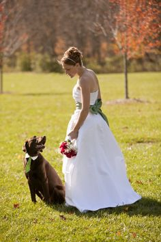 ©Erika Brown Photography, | Daily Dog Tag |, #bride and Chocolate #Labrador Ringbearer