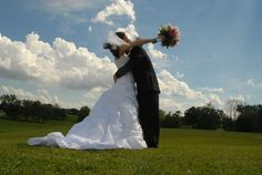 Outdoor wedding in southern Michigan.  #HolmesPhotography
