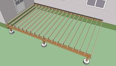 How to build a deck step by step | HowToSpecialist - How to Build, Step by Step DIY Plans | 1000 Building A Floating Deck, Deck Building Plans, Outdoor Deck Decorating, Deck Framing, Deck Flooring, Deck Makeover, Patio Deck Designs, Deck Steps, Deck Posts