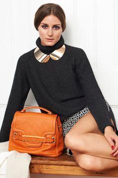Love the collar/turtleneck combo on Olivia Palermo in Vogue Girl Korea