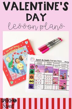 Valentine's Day Lesson Plans for speech therapy! This blog post features resources for expressive language, receptive language, grammar, and articulation! These visual lesson plans are a free download!