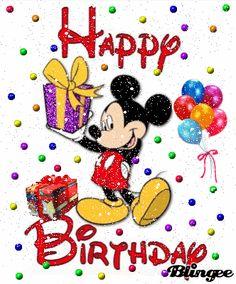 Disney Happy Birthday Images, Happy Birthday Mickey Mouse, Happy Birthday Wishes Quotes, Happy First Birthday, First Birthdays, Birthday Daughter In Law, Mickey Mouse Images, Disney Wishes, Birthday Cards