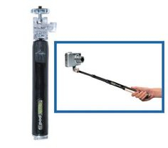 "QuikPod Handheld Convertible Tripod  For the ""selfie"" addict with short arms."