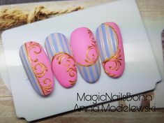 Nailart, Nail Designs, Art Tutorials, Stamping, Tips, Arabesque, Fingernail Designs, I Love, Ongles