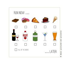 Runners Card - Run now....Later by smallpicsandprojects on Etsy
