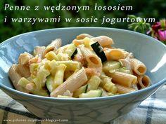 Qchenne-Inspiracje! FIT blog o zdrowym stylu życia i zdrowym odżywianiu. Kaloryczność potraw. : Penne z łososiem i warzywami w sosie jogurtowym