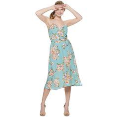 For a fresh, feminine look, reach for this juniors' faux-wrap midi dress. Kohls Dresses, Dresses For Sale, Fall Outfits, Summer Outfits, Summer Dresses, Junior, Strapless Dress, Feminine, Turquoise