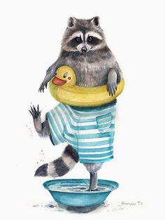 Еноты-милашки | Еноты | Raccoons - Сайт любителей енотов