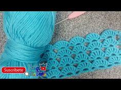 Punto abanico doble a crochet pasó a pasó - YouTube Crochet Designs, Crochet Patterns, Crochet Stitches, Crochet Hats, Bobe, Crochet Diagram, Baby Kind, Crochet Videos, Knitted Poncho